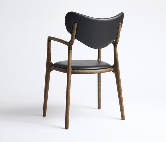 Salon Chair - Oak / Smoked von True North Designs   Stühle