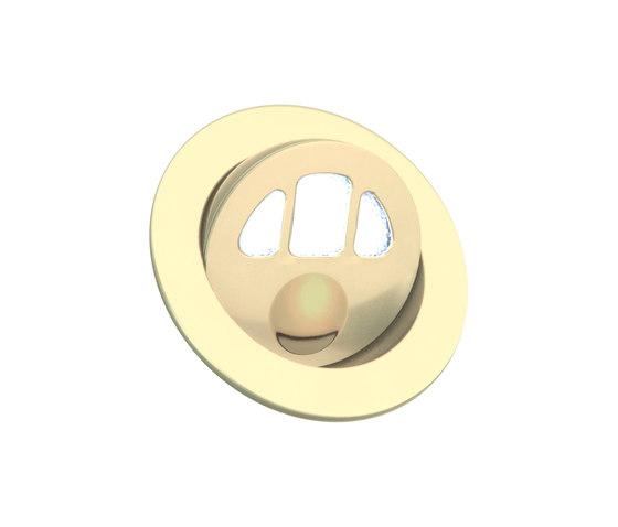 Alto Light with Integral Bezel, gold plated di Original BTC | Lampade parete incasso
