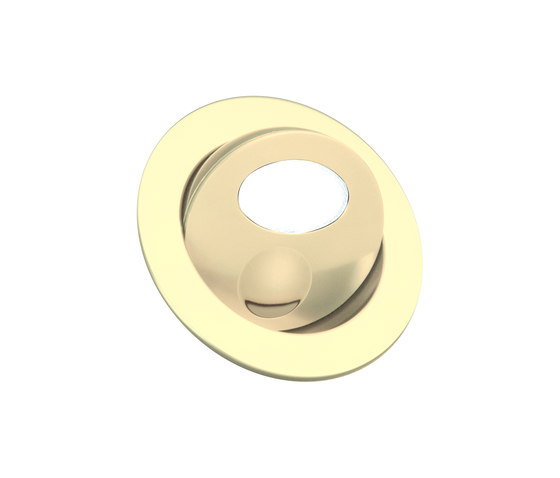 Bora Light with Integral Bezel, gold plated di Original BTC | Lampade parete incasso