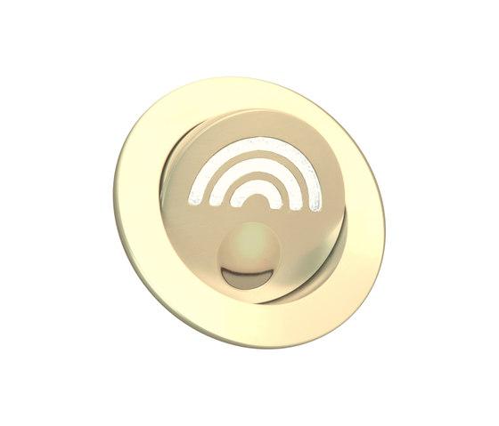 Kona Light with Integral Bezel, gold plated di Original BTC | Lampade parete incasso