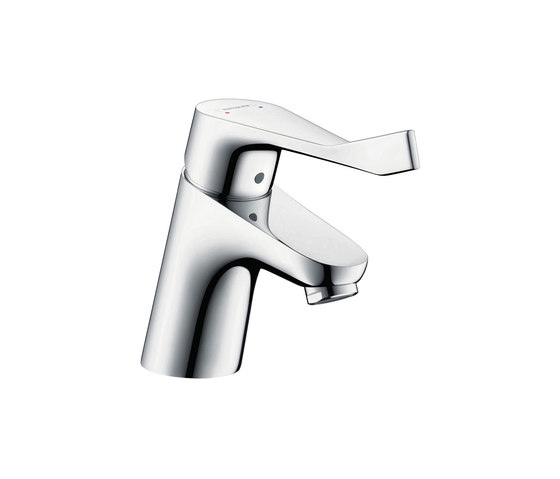 hansgrohe Focus Single lever basin mixer 70 with pop-up waste set and extra long handle by Hansgrohe | Wash basin taps