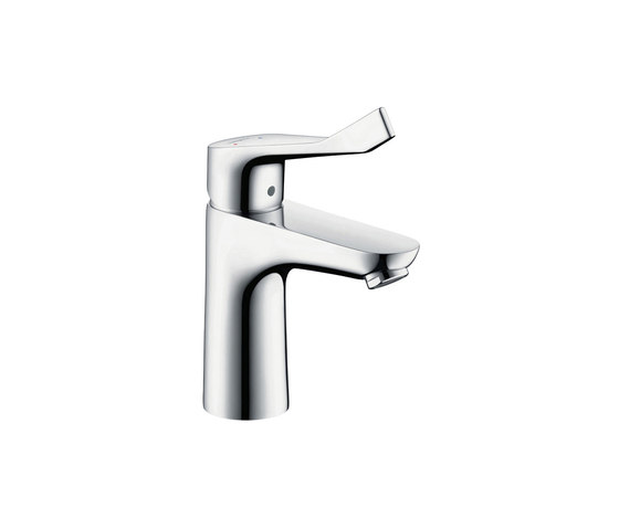 hansgrohe Focus Single lever basin mixer 100 with pop-up waste set and extra long handle by Hansgrohe | Wash basin taps
