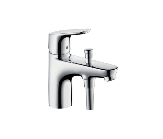 hansgrohe Focus Monotrou single lever bath and shower mixer with Eco ceramic cartridge (with 2 flow rates) by Hansgrohe   Bath taps