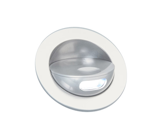 Sirocco II Light with Integral Bezel, clear anodised by Original BTC   Recessed wall lights