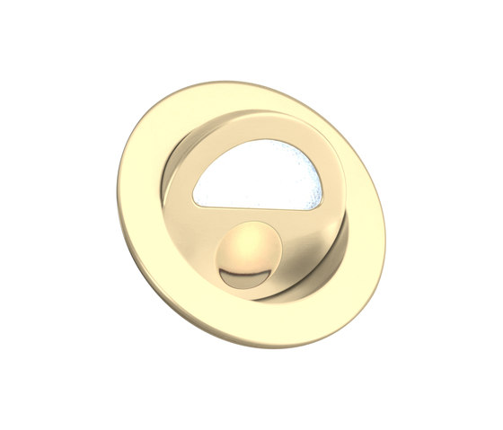1000----Zephyr Light with Integral Bezel, gold plated by Original BTC | Recessed wall lights
