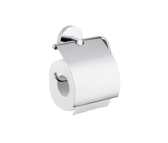 hansgrohe Logis Roll holder with cover by Hansgrohe   Paper roll holders