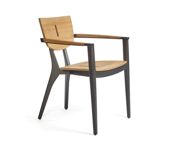 DIUNA Armchair aluminium/teak di Oasiq | Sedie