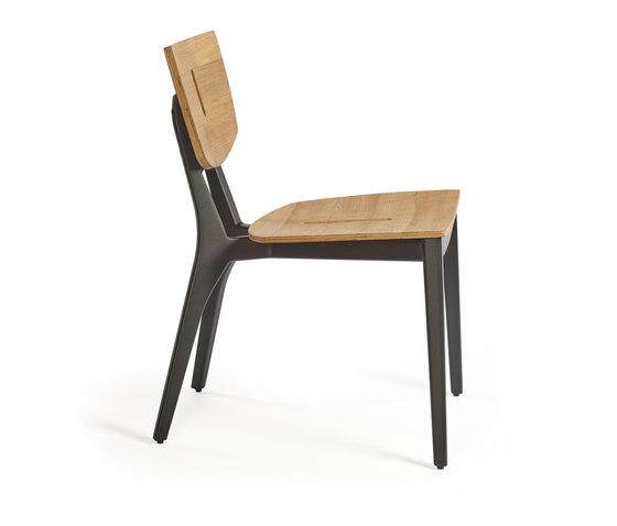 DIUNA chair aluminium/teak de Oasiq   Sillas