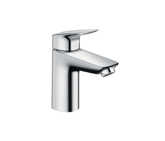 hansgrohe Logis Single lever basin mixer 100 with metal pop-up waste set by Hansgrohe   Wash basin taps