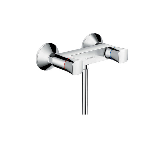 hansgrohe Logis 2-handle shower mixer for exposed installation by Hansgrohe | Bath taps