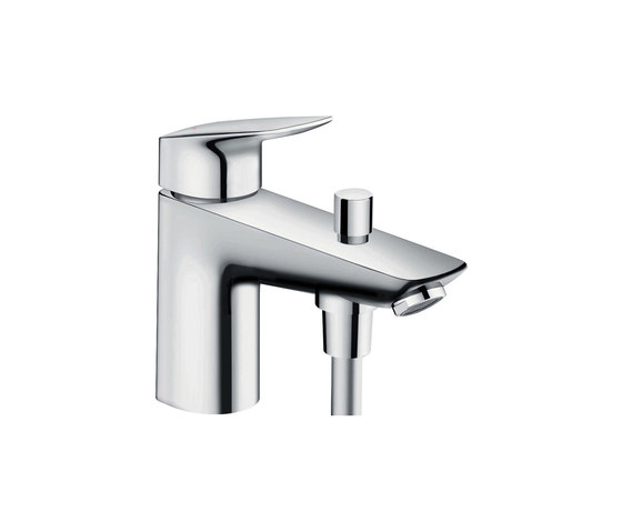 hansgrohe Logis Monotrou single lever bath and shower mixer with Eco ceramic cartridge (with 2 flow rates) by Hansgrohe | Bath taps
