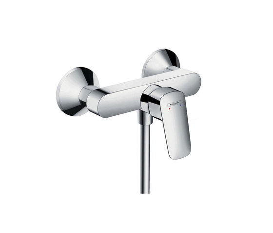 hansgrohe Logis Single lever shower mixer for exposed installation with centre distance 153 mm by Hansgrohe | Bath taps