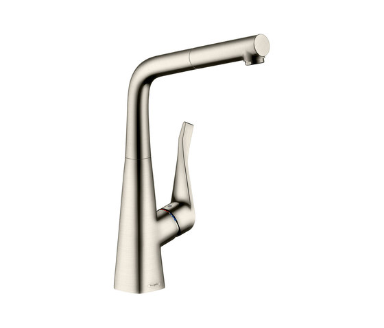 hansgrohe Metris Single lever kitchen mixer 320 with pull-out spout by Hansgrohe | Kitchen taps