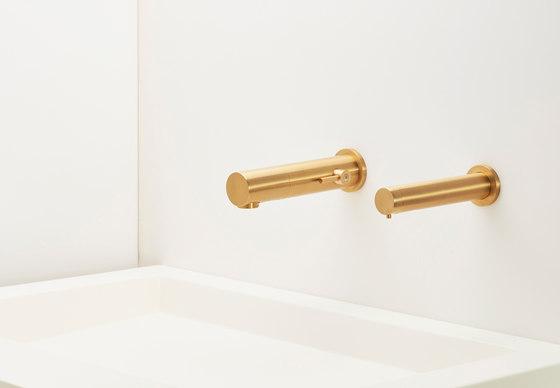 Tubular 1000 – Antique Brass by Stern Engineering | Wash basin taps