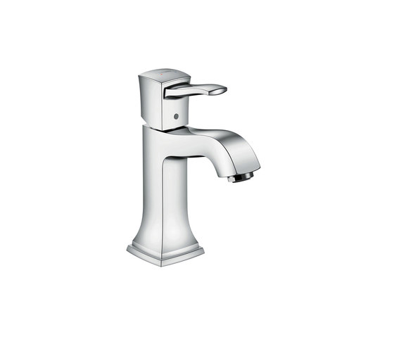 hansgrohe Metropol Classic Single lever basin mixer 110 with lever handle, with pop-up waste set by Hansgrohe | Wash basin taps
