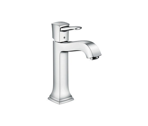 hansgrohe Metropol Classic Single lever basin mixer 160 with lever handle, with pop-up waste set for washbowls by Hansgrohe | Wash basin taps