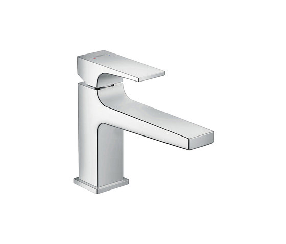 hansgrohe Metropol Single lever basin mixer 100 with lever handle and push-open waste set by Hansgrohe | Wash basin taps