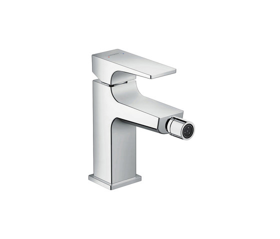 hansgrohe Metropol Single lever bidet mixer with lever handle and push-open waste set by Hansgrohe | Bidet taps