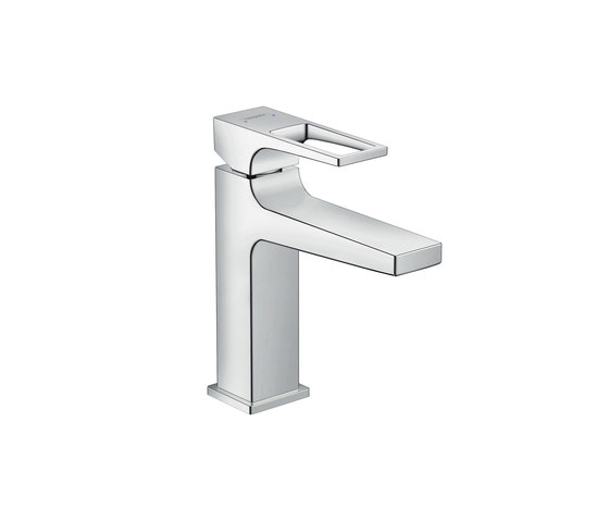 hansgrohe Metropol Single lever basin mixer 110 with loop handle and pop-up waste set by Hansgrohe | Wash basin taps
