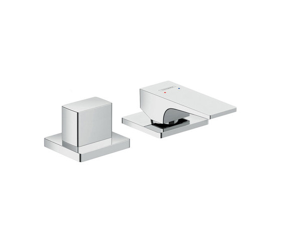 hansgrohe Metropol 2-hole rim mounted single lever bath mixer with lever handle by Hansgrohe | Bath taps