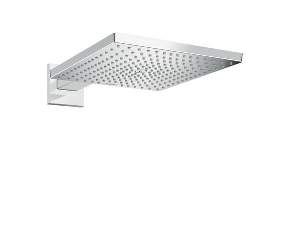 hansgrohe Raindance E 300 Air 1jet overhead shower with shower arm 390 mm EcoSmart 9 l/min by Hansgrohe | Shower controls