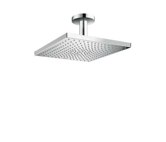 hansgrohe Raindance E 300 Air 1jet overhead shower with ceiling connector 100 mm EcoSmart 9 l/min by Hansgrohe | Shower controls