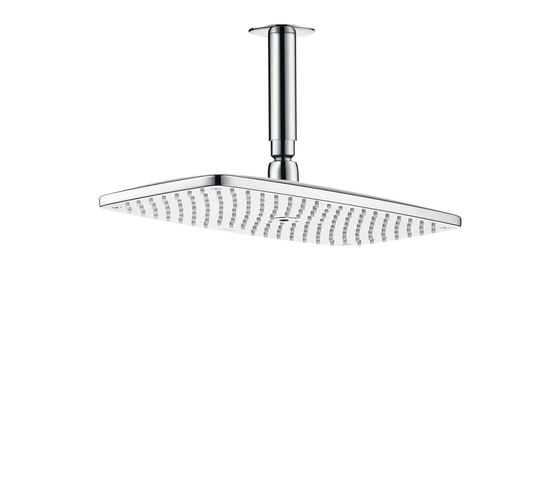 hansgrohe Raindance E 360 Air 1jet overhead shower with ceiling connector 100 mm EcoSmart 9 l/min by Hansgrohe | Shower controls