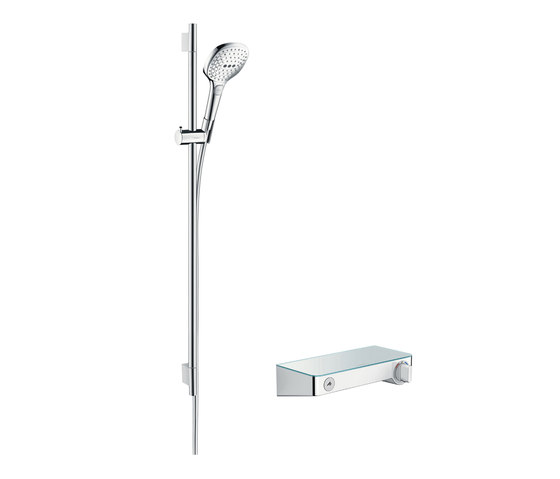 hansgrohe ShowerTablet Select 300 Combi Set 0.90 m with Raindance Select E 120 3jet hand shower by Hansgrohe | Shower controls