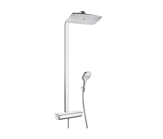 hansgrohe Raindance Select E 360 1jet Showerpipe EcoSmart 9 l/min by Hansgrohe | Shower controls