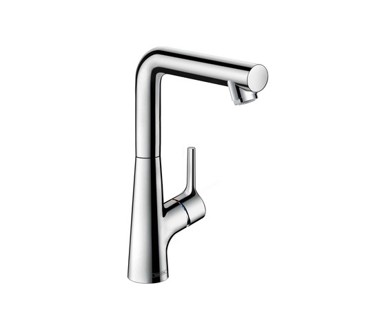 hansgrohe Talis S Single lever basin mixer 210 with pop-up waste set and swivel spout with 120° range by Hansgrohe | Wash basin taps