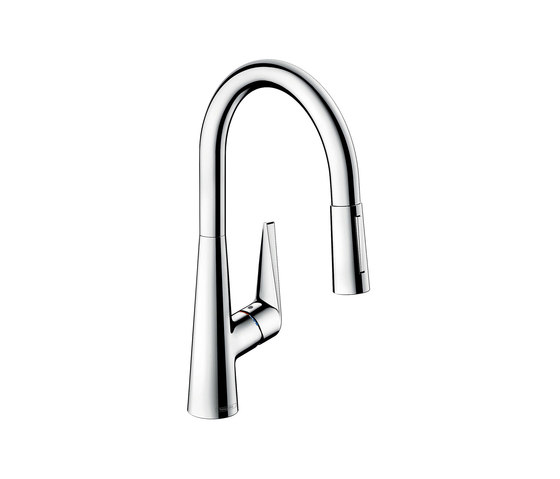 hansgrohe Talis S Single lever kitchen mixer 200 with pull-out spray by Hansgrohe | Kitchen taps