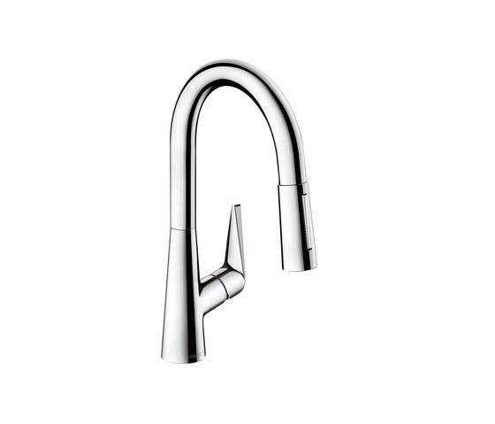 hansgrohe Talis S Mezclador monomando de cocina con ducha extraíble de Hansgrohe | Griferías de cocina