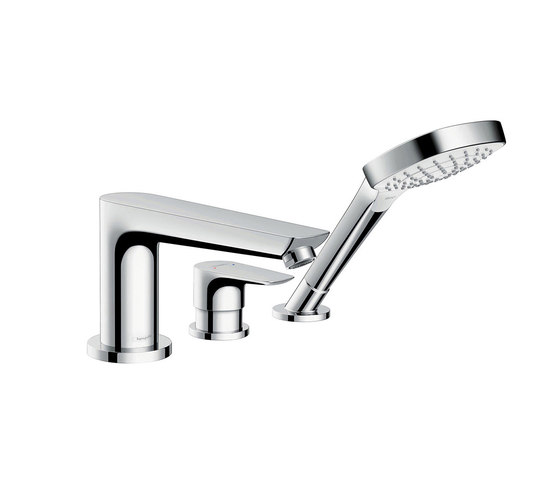 hansgrohe Talis E 3-hole rim mounted bath mixer by Hansgrohe | Bath taps