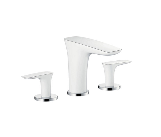 hansgrohe 3-hole basin mixer 100 with push-open waste set by Hansgrohe | Wash basin taps