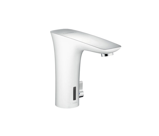 hansgrohe Electronic basin mixer with temperature control battery-operated by Hansgrohe | Wash basin taps