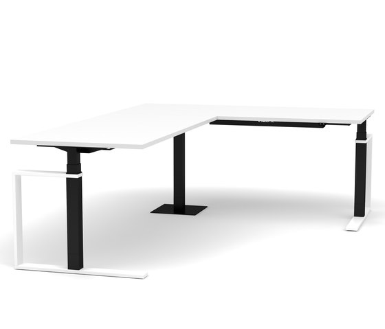 Sit-Stand Corner Desk Masterlift® 3 by Inwerk | Contract tables