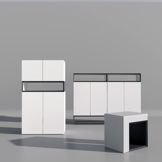 Masterbox® Design Sideboard swing doors by Inwerk | Cabinets