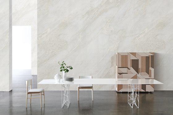 White | White Onyx de Gani Marble Tiles | Panneaux en pierre naturelle