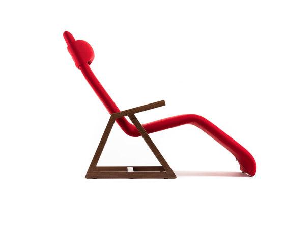 Easy Recliner American Walnut de Lina Design | Chaise longues