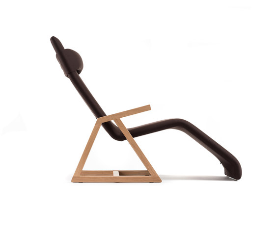 Easy Recliner Oak by Lina Design | Chaise longues