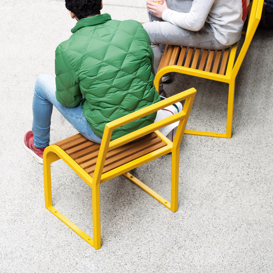 Antibes wood bench di AREA | Panche