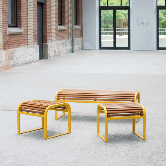 Antibes Nice wood bench by AREA | Stools
