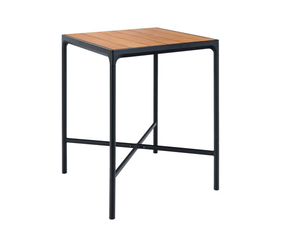 FOUR | Bar table 90x90 Black frame by HOUE | Standing tables