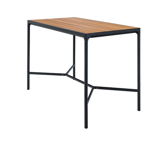FOUR | Bar table 90x160 Black frame by HOUE | Standing tables