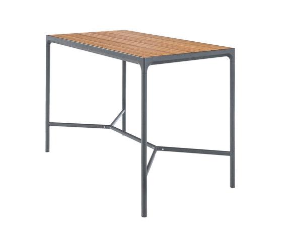 FOUR   Bar table 90x160 Grey frame di HOUE   Tavoli alti