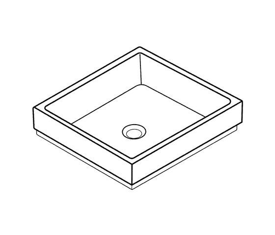 Cube Ceramic Vessel basin 40 by GROHE | Wash basins