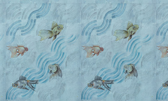 Onde di pesci by WallPepper   Wall coverings / wallpapers