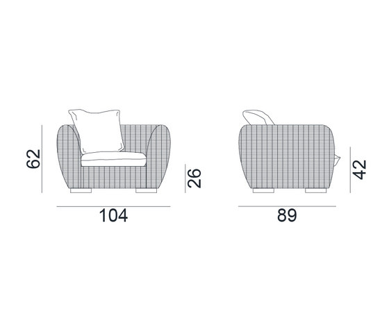 InOut 625 by Gervasoni | Armchairs