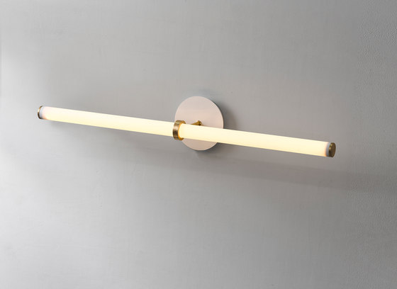 Light Object 014 - LED light, wall, natural brass finish by Naama Hofman Light Objects | Wall lights