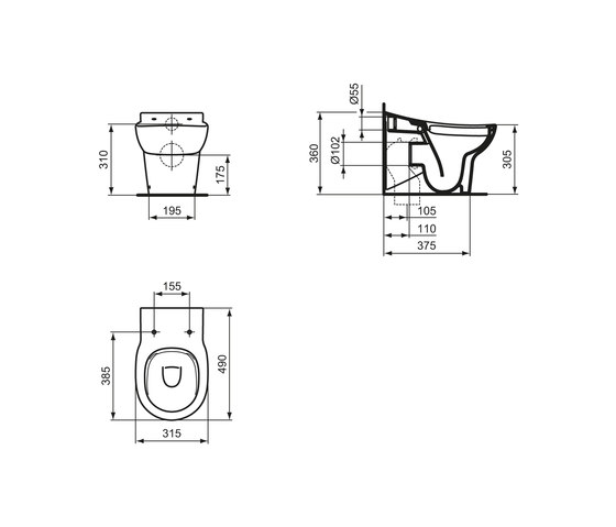 contour 21 schools standtiefsp l wc ohne sp lrand f r kinder keramikh he 305 mm inodoros de. Black Bedroom Furniture Sets. Home Design Ideas